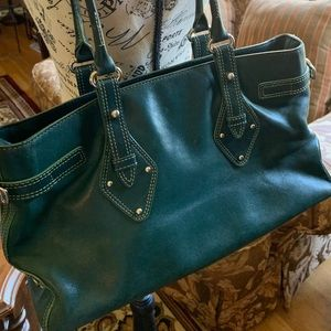 VINTAGE* COLE HAAN* FO4 HUNTER GREEN shoulder bag